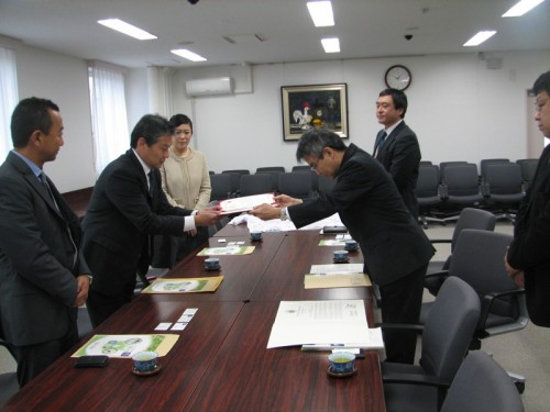 Meeting with Tohoku Officials
